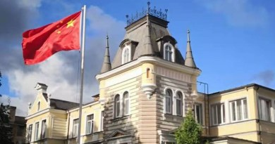 China's embassy in Latvia. Photo Credit: China Embassy in Latvia