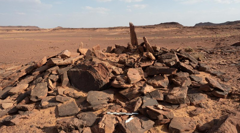 This burial site in a badlands area of AlUla in north-west Saudi Arabia is currently rare for Neolithic-Chalcolithic Arabia in being built above-ground and meant to be visually prominent. CREDIT Royal Commission of Al-Ula