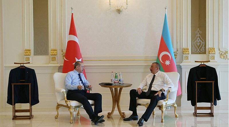 File photo of Turkey's Recep Tayyip Erdoğan with Azerbaijan's Ilham Aliyev. Photo Credit: Official website of President of Azerbaijan, Wikipedia Commons