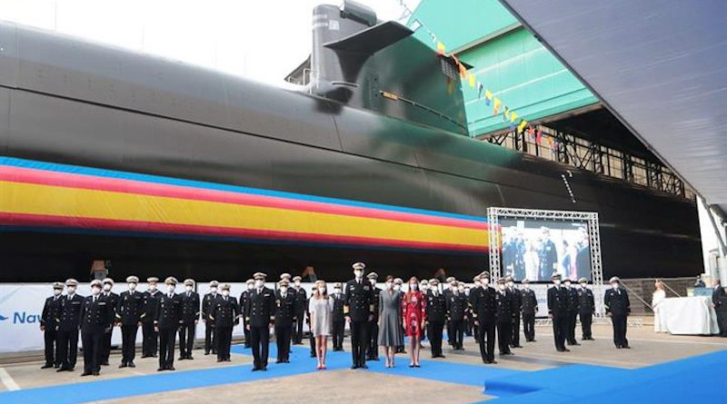 Launching ceremony for the S-81 'Isaac Peral' by Navantia, the first submarine designed and built entirely in Spain. Photo Credit: Spanish government