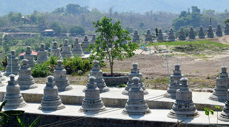 Mrauk-U structures on Mya Yadanar Hill in Thandwe Township, Arakan State, Myanmar. Photo Credit: DMG