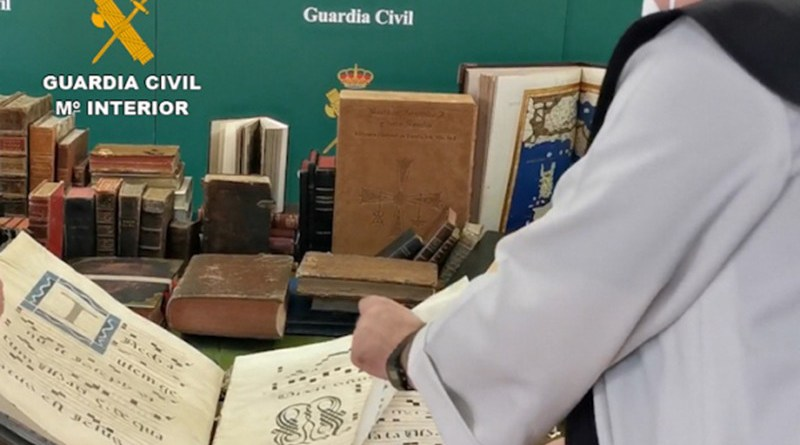 Spanish authorities seized more than 7,000 cultural goods. Photo Credit: Guardia Civil, INTERPOL
