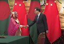 Bangladesh PM Sheikh Hasina and China PM Li Keqiang in Beijing, China. Photo Credit: VOA video screenshot