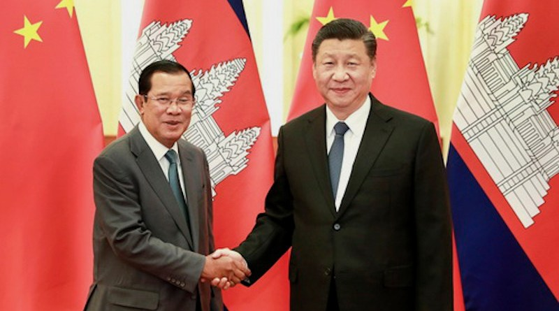 China's President Xi Jinping with Cambodian Prime Minister Samdech Techo Hun Sen. Photo Credit: Chinese government