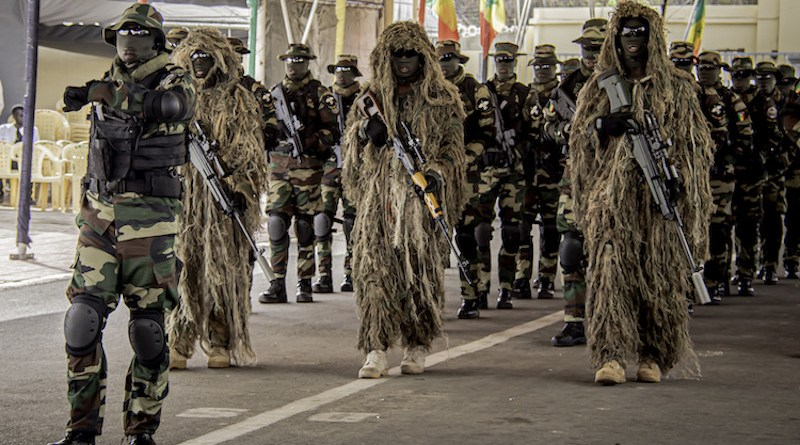 The Senegal Special Forces during the pass and review of the 45th Navy Day Anniversary Parade. Photo by Staff Sgt. Flor