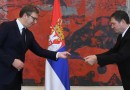 Serbia's President Aleksandar Vucic and Israeli ambassador in Belgrade Yahel Vilan. Photo: Israeli embassy in Belgrade