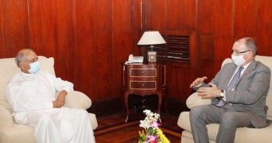 Sri Lanka Foreign Minister Dinesh Gunawardena summoned Canadian High Commissioner David McKinnon and expressed Sri Lanka's deep concern over the adoption of Private Member Bill 104. Credit: @MFA_SriLanka, Official Twitter Account of the Foreign Ministry of Sri Lanka.
