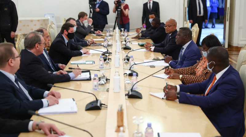 Russian Foreign Minister Sergey Lavrov holds diplomatic talks with, his counterpart, Minister of Foreign Affairs and International Cooperation of the Republic of Sierra Leone David John Francis. (Photo supplied)