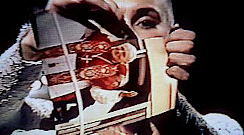Sinead O'Connor, protesting the cover-up of Catholic Church sexual abuse cases, tore a picture of Pope John Paul II into many pieces on live television in 1992. Credit: Wikipedia Commons