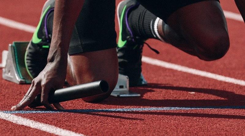 Sports Athlete Runner Sprint Fast Black Man Black Man