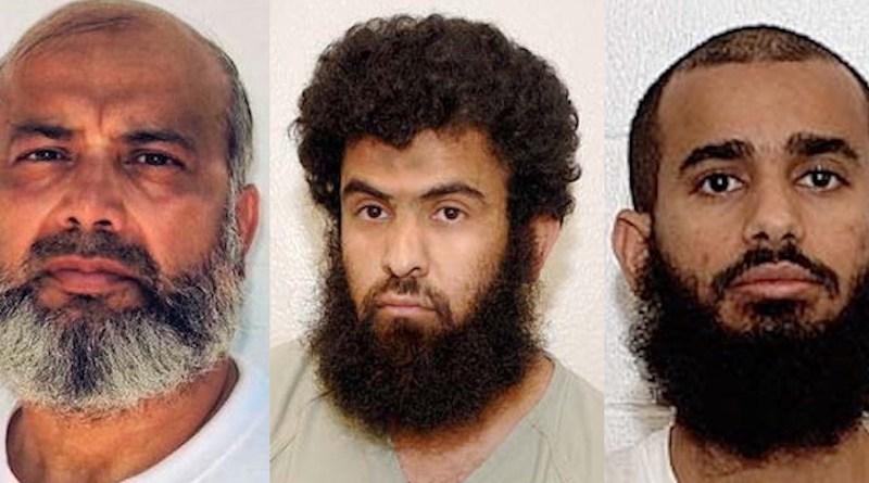 Guantánamo prisoners Saifullah Paracha, Abdul Rahim Ghulam Rabbani and Uthman Abd al-Rahim Uthman. (Photo supplied)