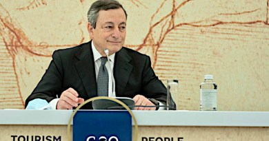 Italian Prime Minister Mario Draghi during a press conference after the G20 interministerial meeting on tourism in Rome, May 2021picture alliance / ANSA | CHIGI PALACE PRESS OFFICE/ FILIP ©