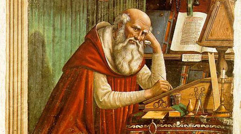 Saint Jerome in His Study, by Domenico Ghirlandaio. Source: Wikipedia Commons