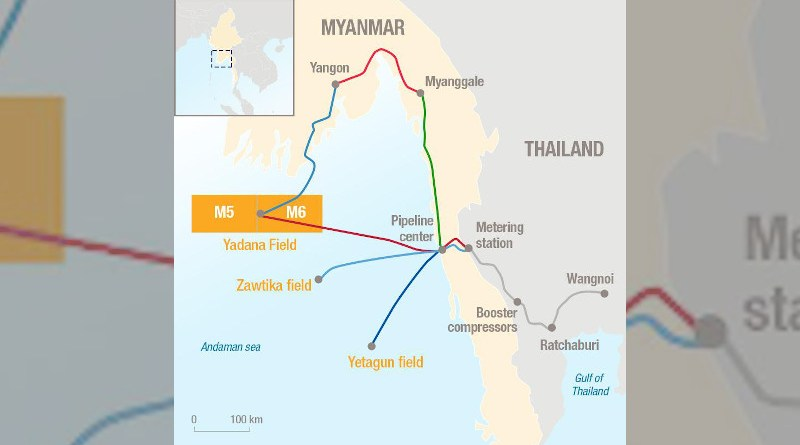 MGTC gas transportation system in Myanmar. Credit: Total