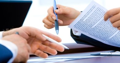 Laptop Office Hand Writing Business Document