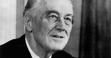 U.S. President Franklin D. Roosevelt. Photo Credit: FDR Library, Wikipedia Commons