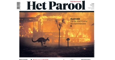 Het Parool front page featuring photo by Photojournalist Matthew Abbott CREDIT QUT