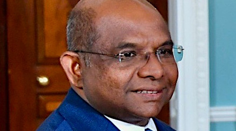 Maldives' Abdulla Shahid. Photo Credit: U.S. Department of State, Wikipedia Commons