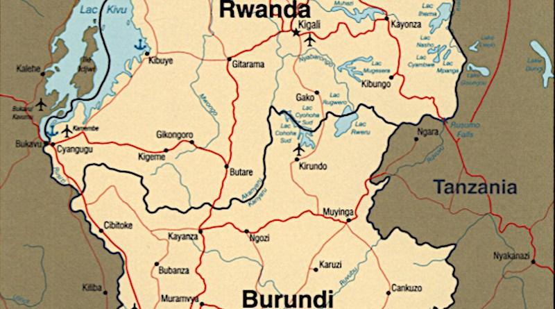Locations of Burundi and Rwanda in Africa. Credit: CIA World Factbook