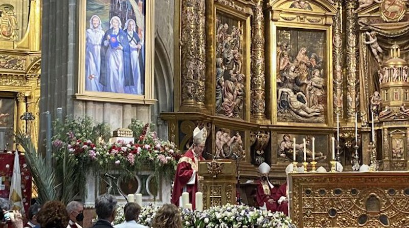 The Mass of Beatification for Maria Pilar Gullón Yturriaga and two companions at Astorga Cathedral, Astorga, Spain, May 29, 2021. Credit: Diocese of Astorga.