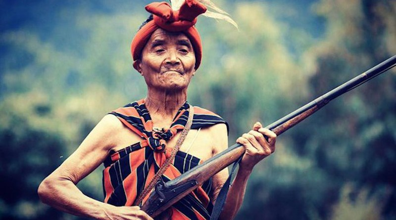 A Chin man in Myanmar holds a Tumee rifle in an undated photo. Photo Credit: Nay Lynn Photography, RFA
