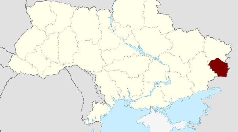Location of Lugansk People's Republic in Ukraine. Credit: Wikipedia Commons