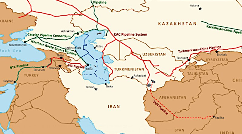 Major Caspian oil and natural gas export routes. Credit: EIA