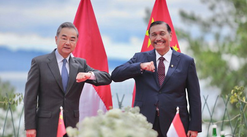 China's State Councilor and Foreign Minister Wang Yi with Indonesia's Coordinator for Cooperation with China and Coordinating Minister Luhut Binsar Pandjaitan. Photo Credit: Chinese government