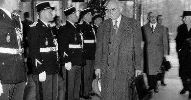 On 19 March 1958, the first meeting of the European Parliamentary Assembly was held in Strasbourg under the Presidency of Robert Schuman. Photo Credit: Europeana Collections, Wikipedia Commons