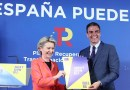 Spain's Prime Minister Pedro Sánchez with the President of the European Commission, Ursula von der Leyen. Photo Credit: Moncloa