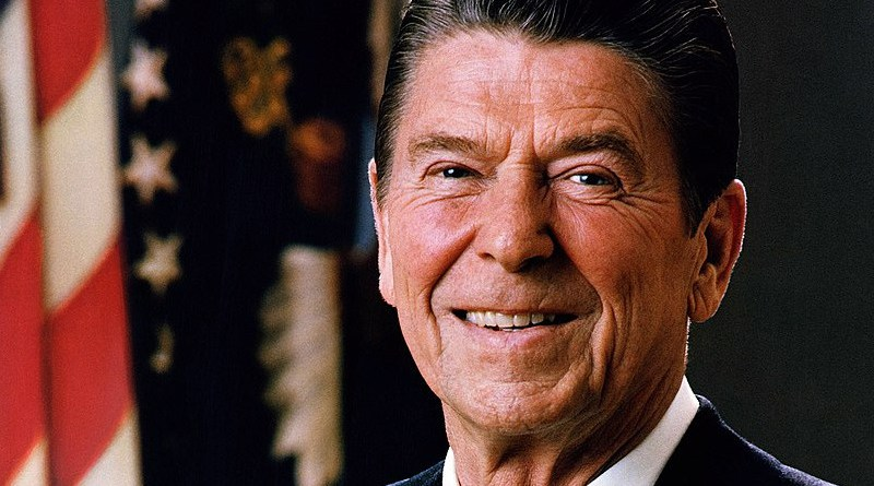 Official portrait of US President Ronald Reagan. Photo Credit: DoD, Wikimedia Commons