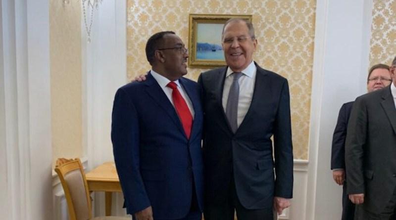 Russia's Sergey Lavrov and Ethiopia's Demeke Mekonnen (Photo supplied)