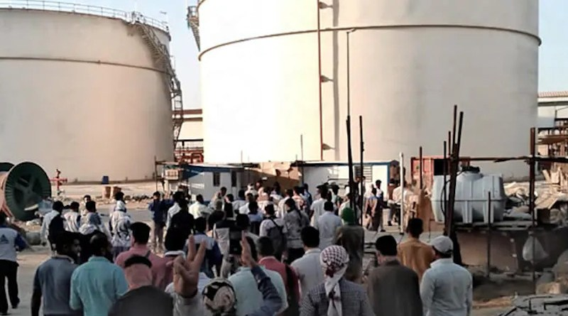 Oil workers in Iran on strike. Photo Credit: Iran News Wire
