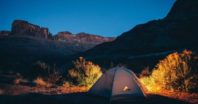 Tent Camping Remote Campsite Outdoors Alone Camp