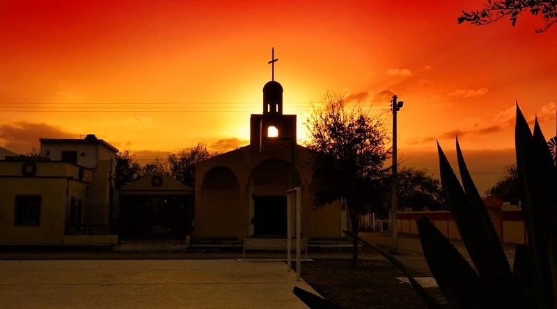 Mexico Catholic Sunset Church Culture Sky Tourism Temple