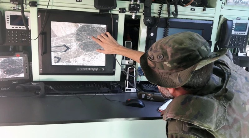 Indra Thales Battlefield Management System (BMS). Photo Credit: Indra