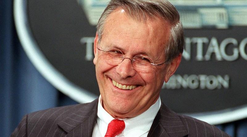 US Secretary of Defense Donald H. Rumsfeld. Photo Credit: Helene C. Stikkel, DOD