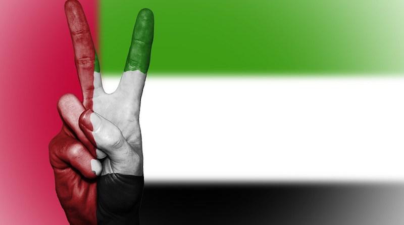 uae flag United Arab Emirates Peace Hand Nation Background