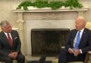 US President Joe Biden and Jordan's King Abdullah II. Photo Credit: White House video screenshot