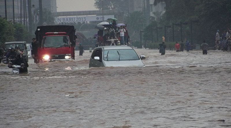 File photo of flooding in Jakarta, Indonesia. Photo Credit: VOA Indonesian Service, Wikipedia Commons