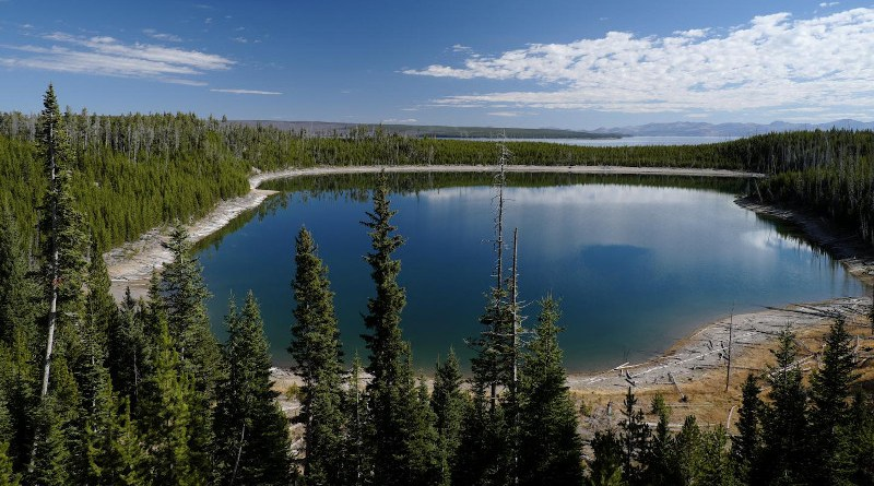 The iconic landscape of Yellowstone National Park is characterized by vast forests that have been untouched by man but are threatened by increasing numbers of forest fires due to climate change. CREDIT R. Seidl / TUM