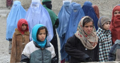 Girls and mothers, waiting for donations of heavy blankets, Kabul, 2018 Photo Credit: Dr. Hakim