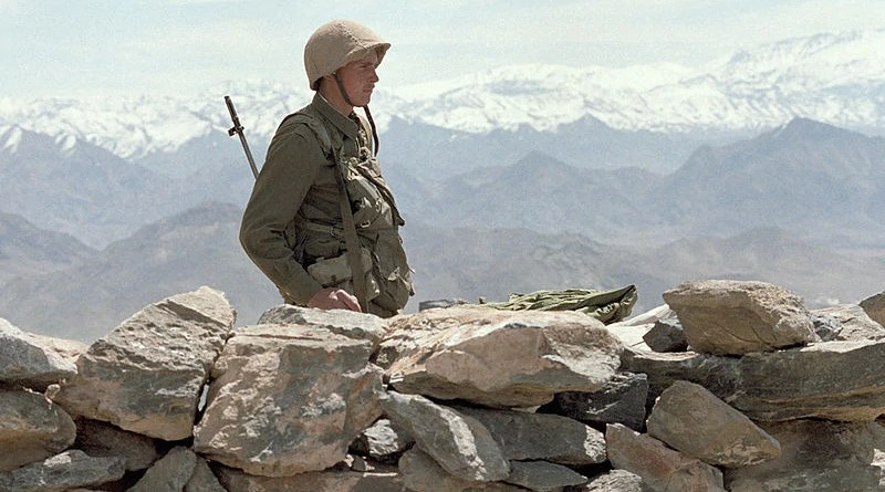 A Russian soldier-internationalist guards roads during the Soviet-Afghan War. Photo Credit: RIA Novosti, Wikipedia Commons.