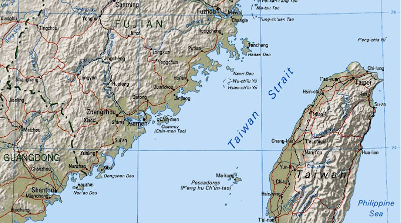 Map of the Taiwan Strait. Credit: CIA World Factbook