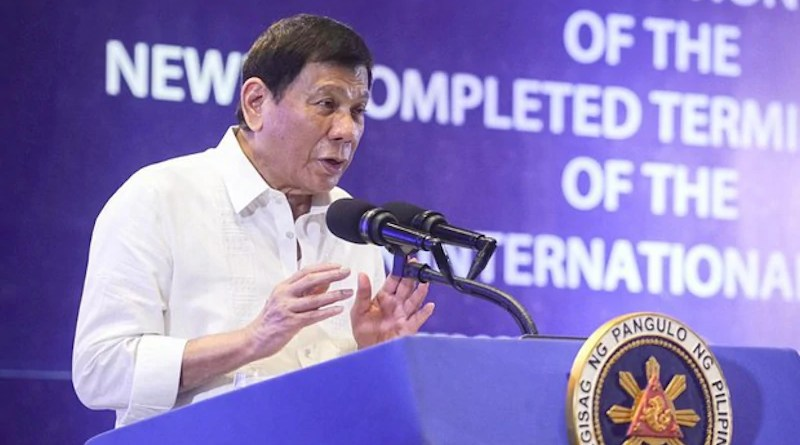 Philippine President Rodrigo Duterte. Photo Credit: Handout Philippines Communications Operations Office
