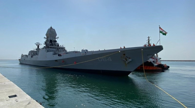 India's INS Kochi in Saudi Arabia. Photo Credit: Indian Embassy