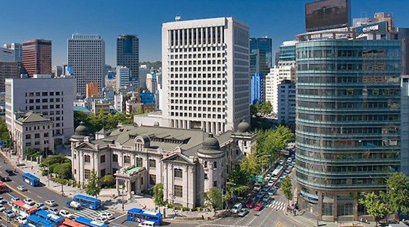 South Korea's Bank of Korea (BOK) headquarters in Seoul. Photo Credit: Mostly1, Wikipedia Commons