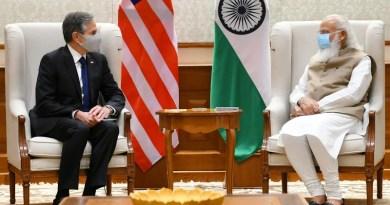 US Secretary of State Antony Blinken with India's Prime Minister Narendra Modi. Photo Credit: India PM Office
