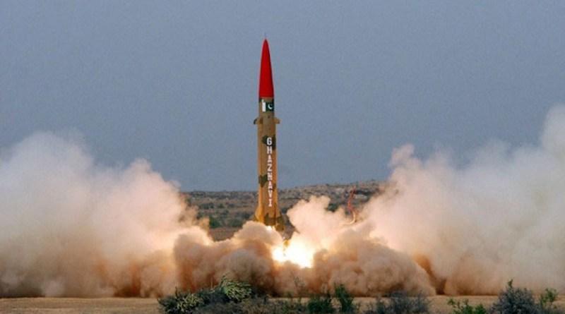 Pakistan test launches a Ghaznavi missile. Photo: ISPR Pakistan