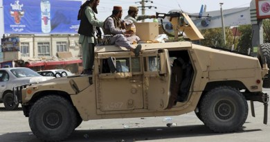 Taliban in Afghanistan driving a seized US military Humvee. Photo Credit: Fars News Agency